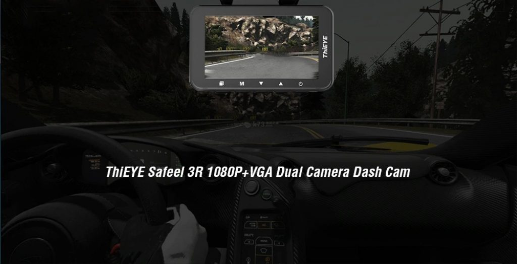 coupon, gearbest, ThiEYE Safeel 3R 1080P + VGA Dual Camera Dash Cam