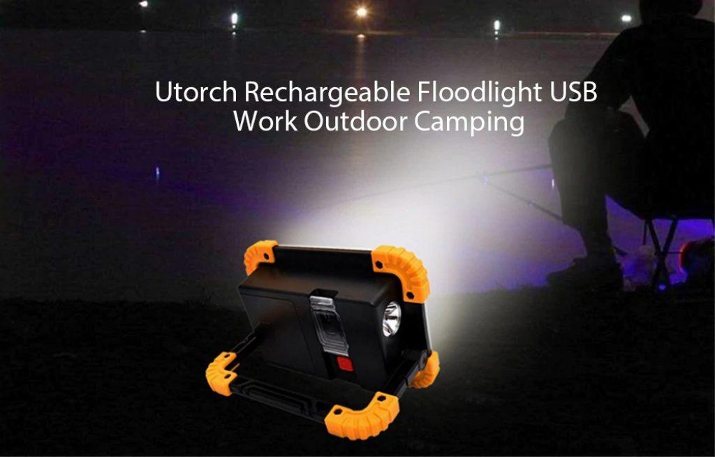 κουπόνι, gearbest, Utorch W1 Επαναφορτιζόμενες Floodlight USB Εργασία Εξωτερική Camping Προειδοποιητικό Φως