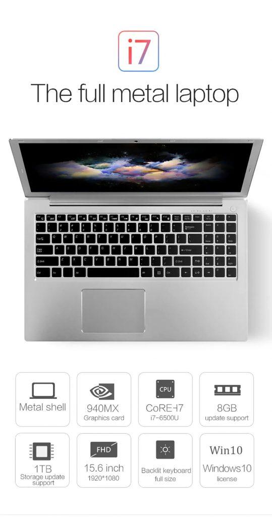VOYO I7 Notebook, phiếu giảm giá, banggood