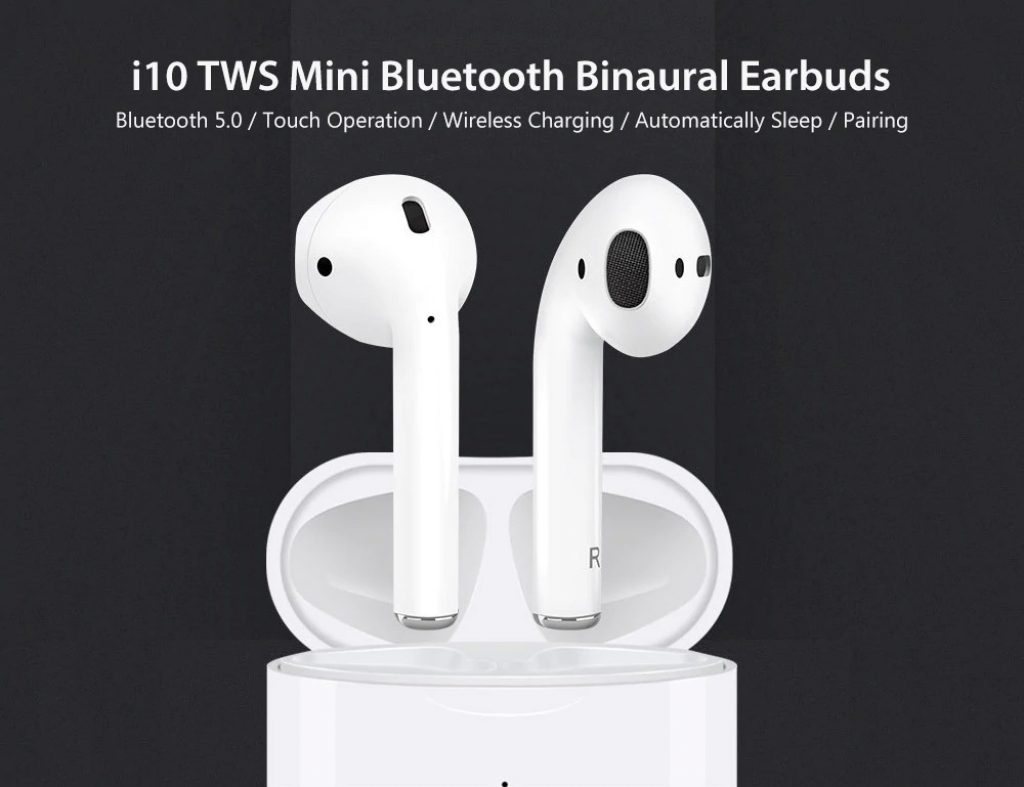 €29 with coupon for i10 TWS Mini Bluetooth Binaural Earbuds