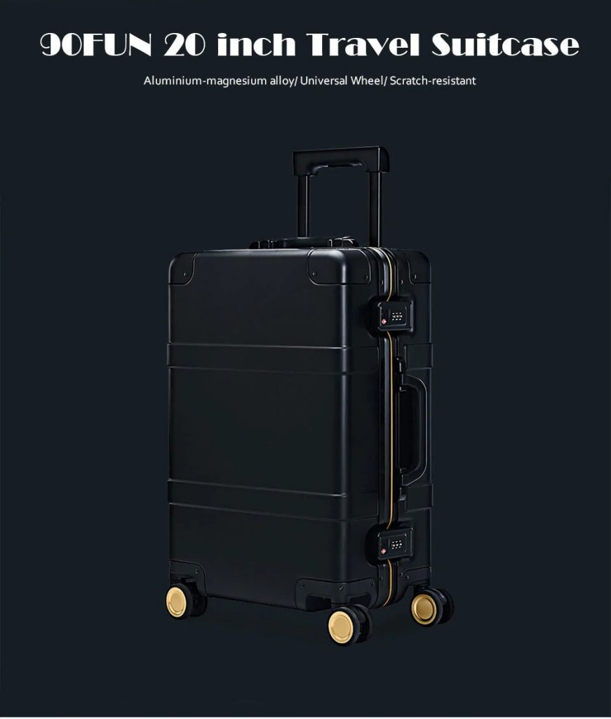 coupon, gearbest, 90FUN 20 inch Travel Suitcase with Universal Wheel