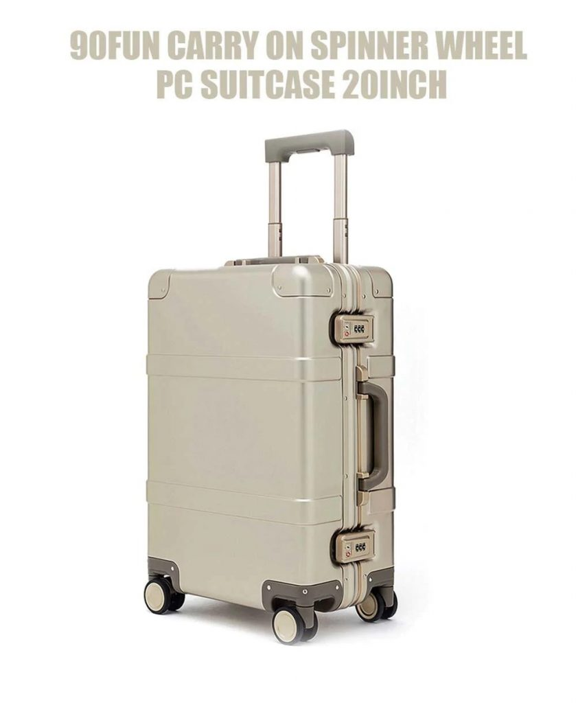 coupon, gearbest, 90FUN PC Suitcase 20 inch from Xiaomi Youpin - GOLD NORMAL VERSION