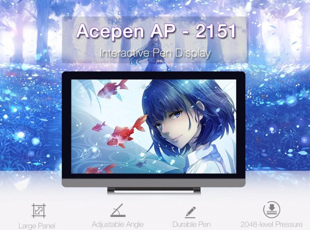 coupon, gearbest, Acepen AP - 2151 21.5 inch Drawing Tablet