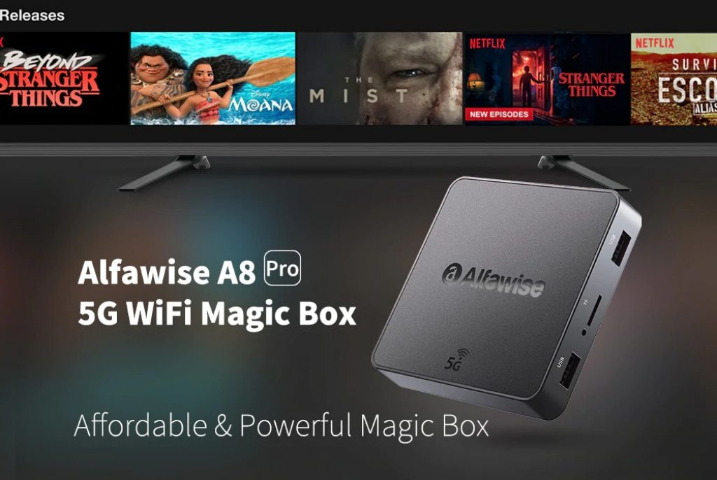 coupon, gearbest, Alfawise A8 Pro 5G Wifi Magic TV Box