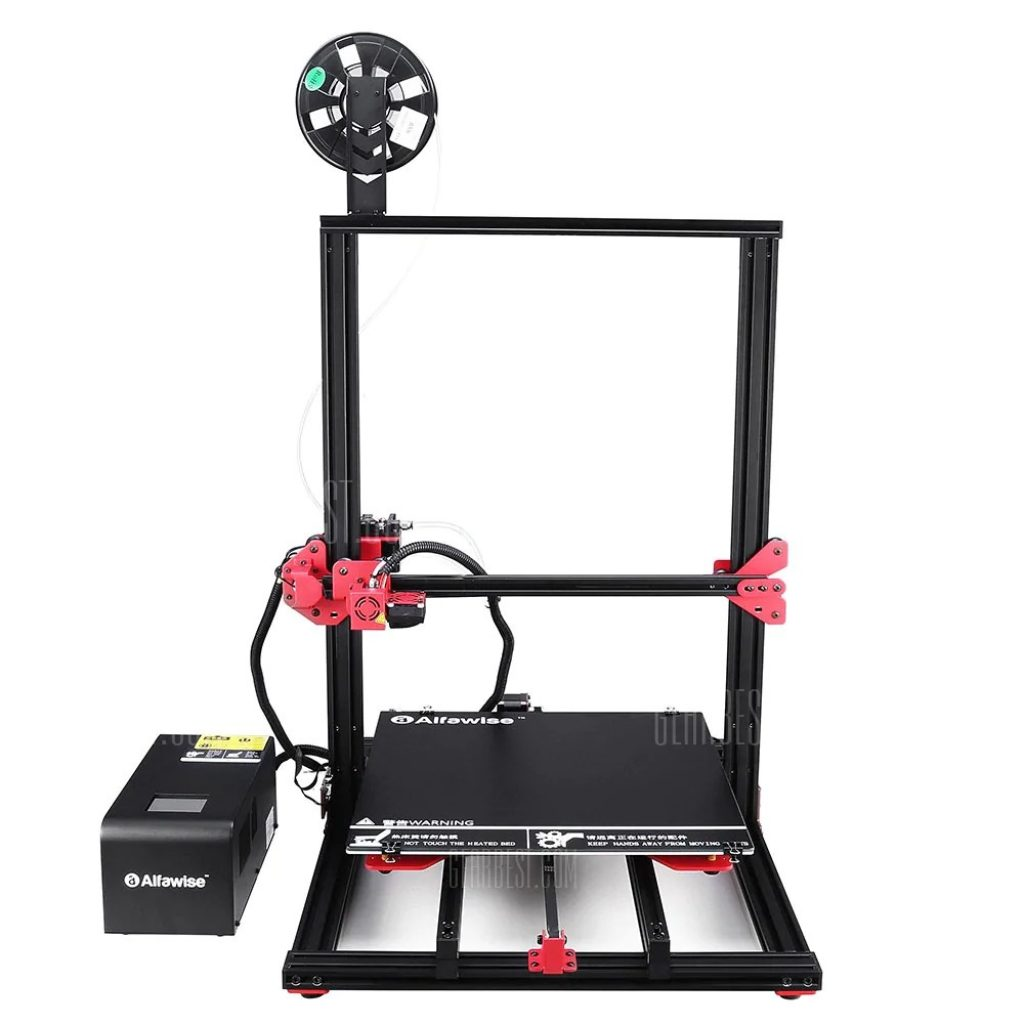 kupon, gearbest, Alfawise U20Plus 2.8 pulgada Pindutin ang Screen Large Scale DIY 3D Printer