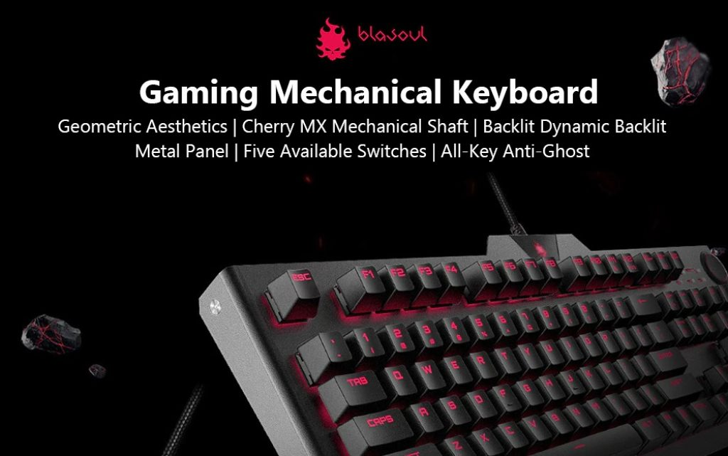 BLASOUL USB Wired Gaming Mechanical Keyboard, cooupon, GearBest