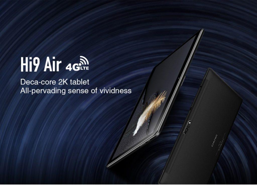 Chuwi Hi9 Air CWI533 4G Phablet 4GB RAM 64GB eMMC - BLACK HELIO X20, coupon, gearbest