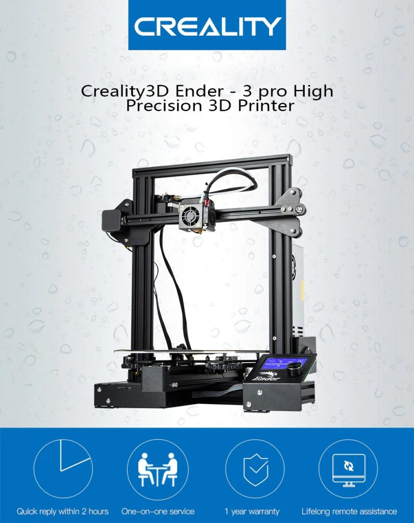 Creality3D Ender - 3 pro High Precision 3D Printer - BLACK US PLUG ( 3-PIN), coupon, GearBest