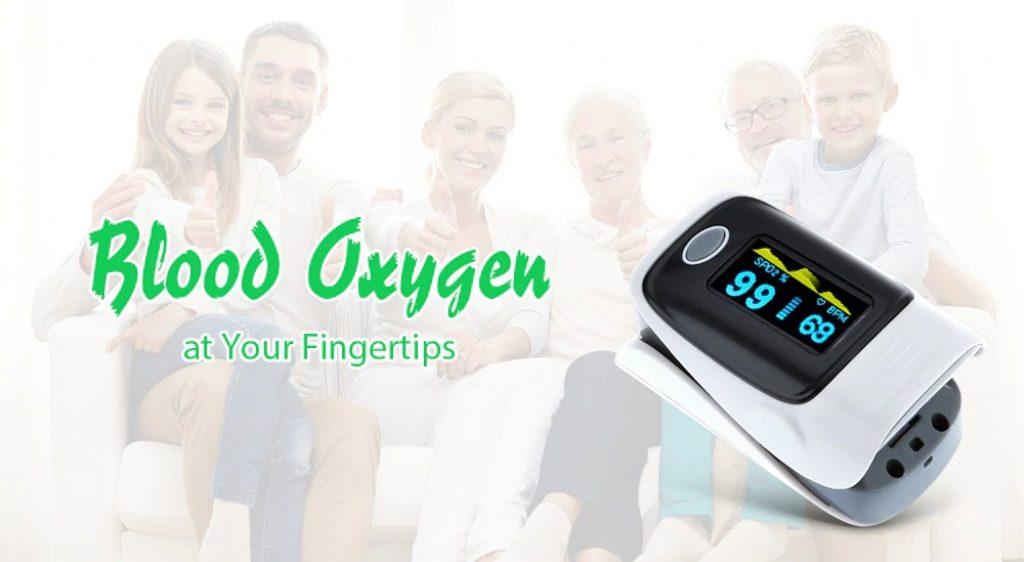 kupón, prevodový, digitálny prstový pulzný oxymeter - ZELENÝ