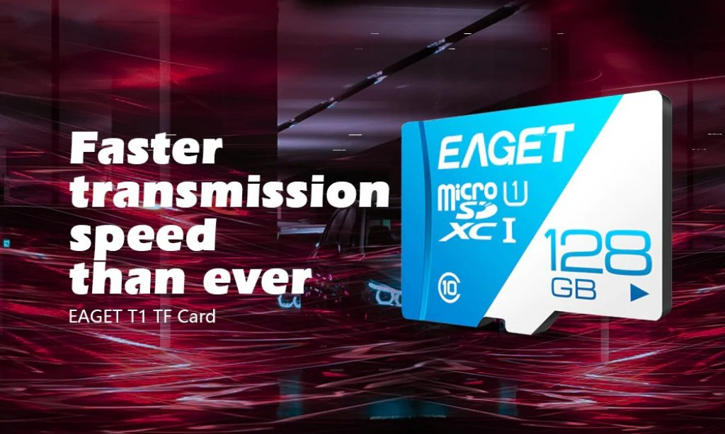 coupon, gearbest, EAGET T1 High Speed UHS-I Flash TF Micro Memory Card - ROYAL BLUE 16G