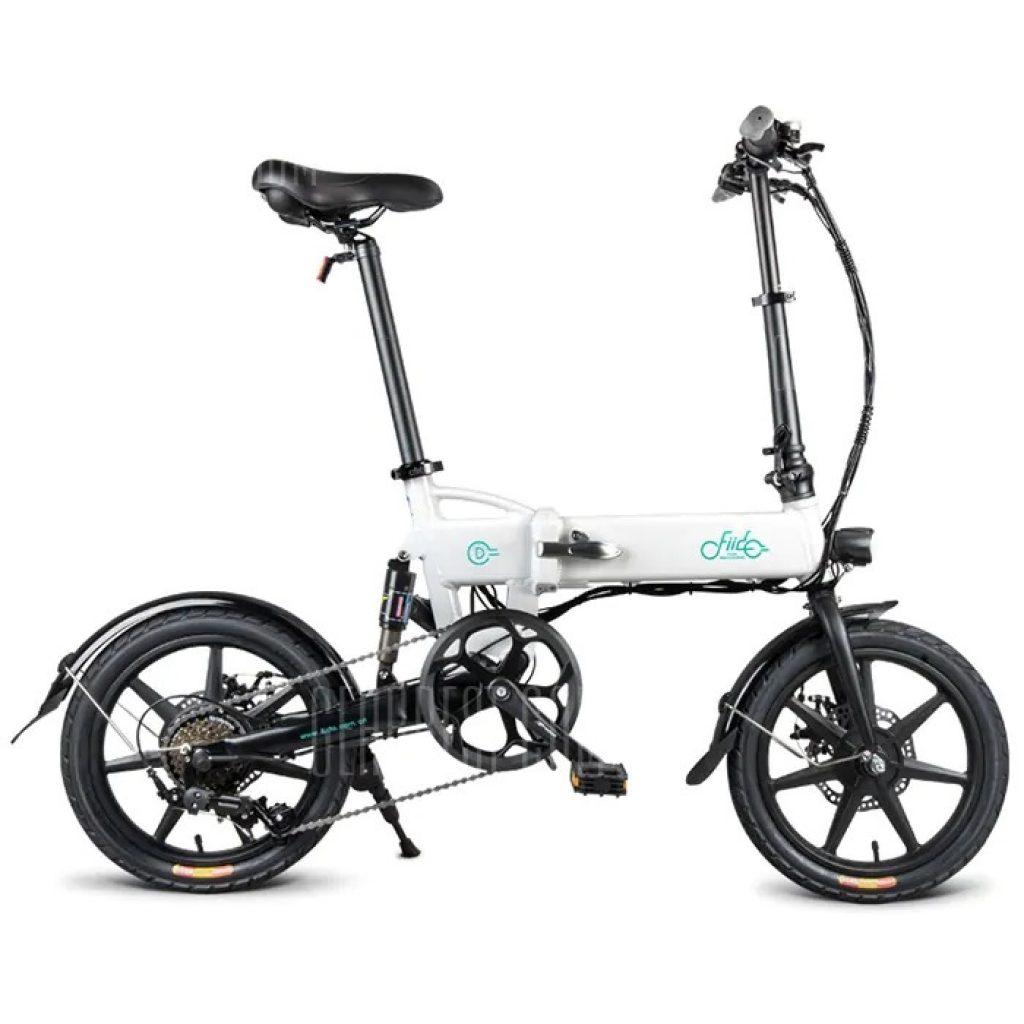 kupon, gearbest, FIIDO D2 Değişen Sürüm 16 inç Katlanır Elektrikli Bisiklet
