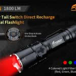 Fitorch MR26 1800lm Waterproof LED Flashlight - BLACK, coupon, GearBest