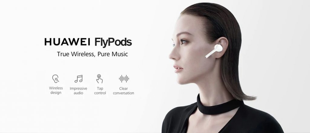 coupon, gearbest, HUAWEI HONOR AM - H1C FlyPods Wireless Earphone Bluetooth Touch Binaural Earbuds