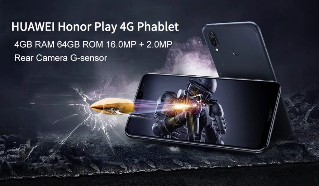 HUAWEI Honor Play 4G 4GB RAM 64GB ROM 16.0MP Front Camera Fingerprint Sensor Phablet Global Version, coupon, GearBest