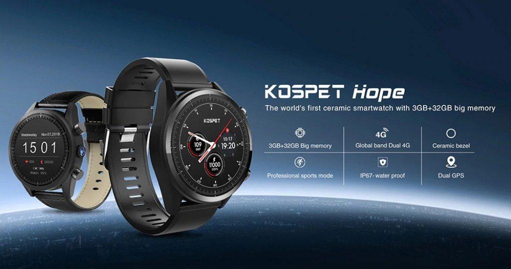 kupón, banggood, Kospet naděje 4G Smartwatch telefon