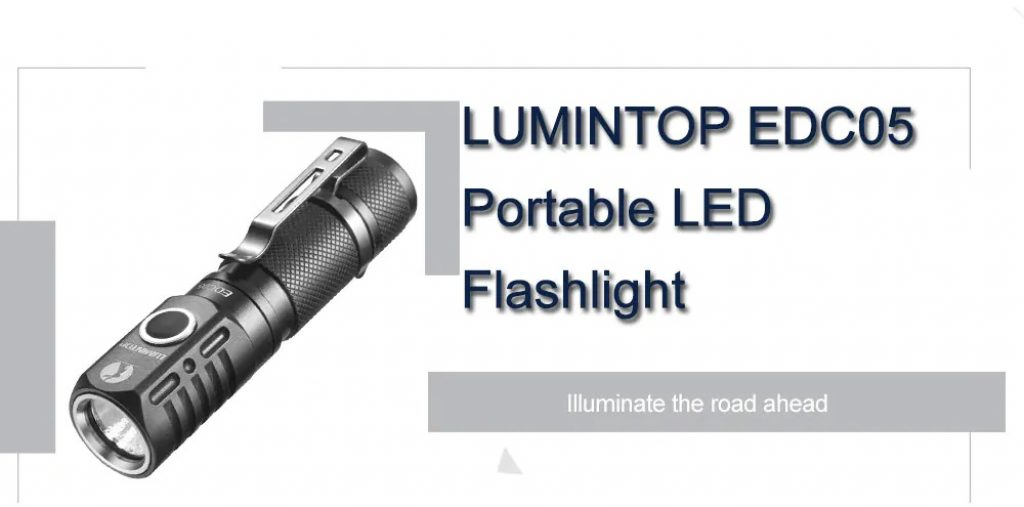 LUMINTOP EDC05 Portable 800lm LED Flashlight for Outdoor - BLACK, coupon, GearBest