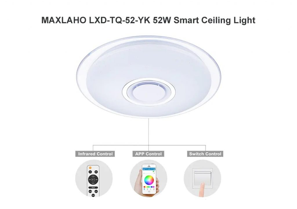 coupon, gearbest, MAXLAHO LXD - TQ - 52 - YK 52W Smart Ceiling Light