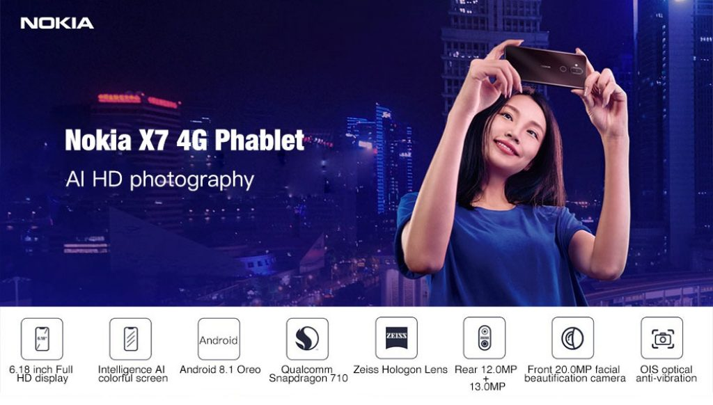 Nokia X7 4G Phablet 4GB RAM - MIDNIGHT BLUE, coupon, GearBest