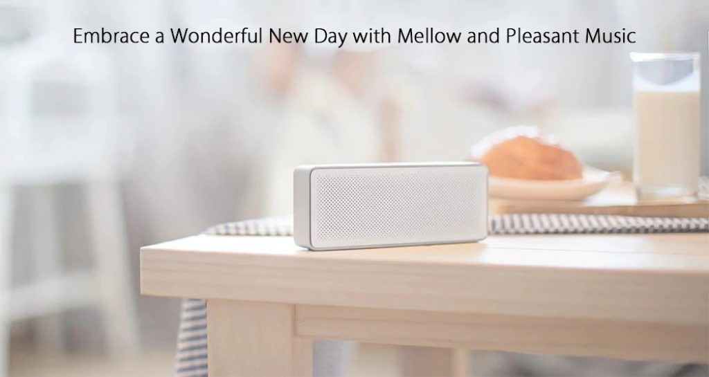 Original Xiaomi XMYX03YM Bluetooth 4.2 Speaker - SILVER, coupon, GearBest