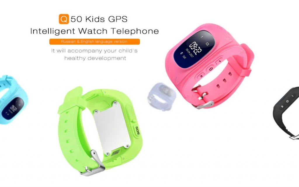 coupon, gearbest, Q50 Kids OLED Display GPS Smart Watch Telephone