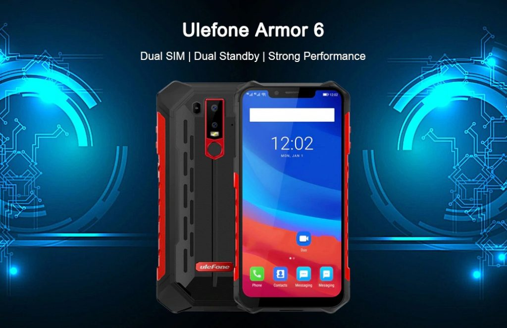 Ulefone Armor 6 4G Phablet - BLACK EUROPEAN UNION, coupon, GearBest