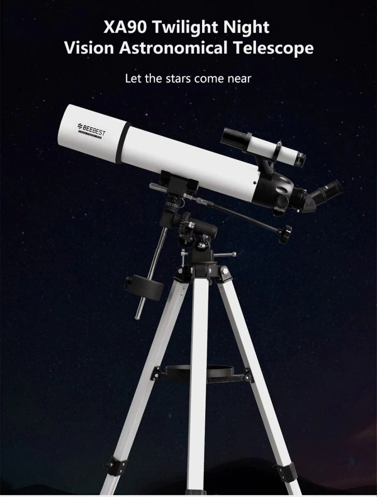 XA90 Twilight Monocular High-definition Low-light Night Vision Astronomical Telescope from Xiaomi youpin - WHITE, coupon, GearBest
