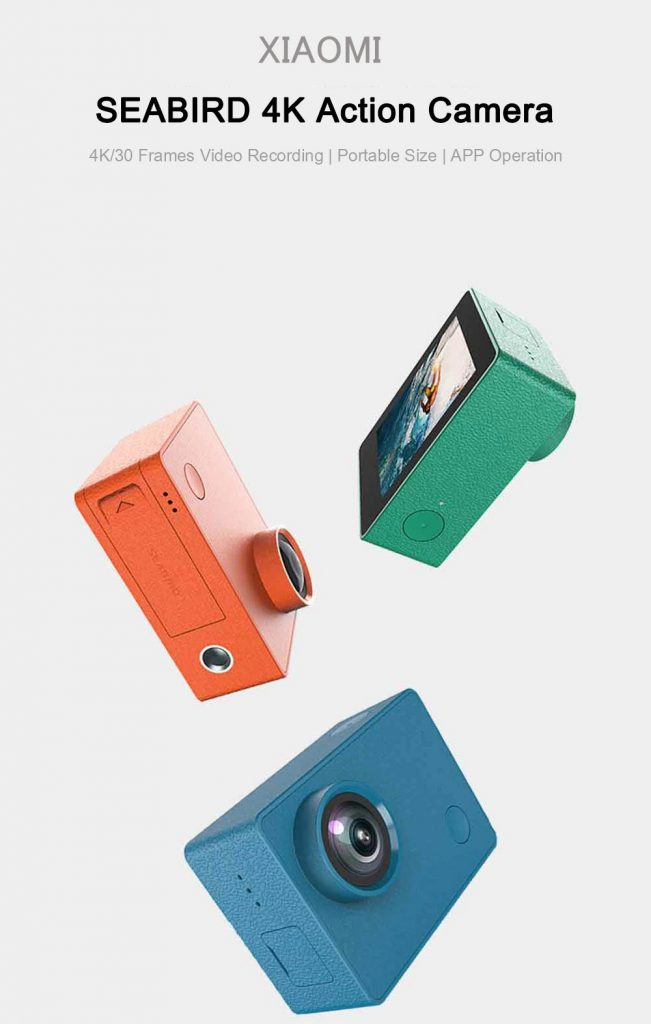 banggood, geekbuying, coupon, gearbest, XIAOMI SEABIRD 4K Action Camera 4K