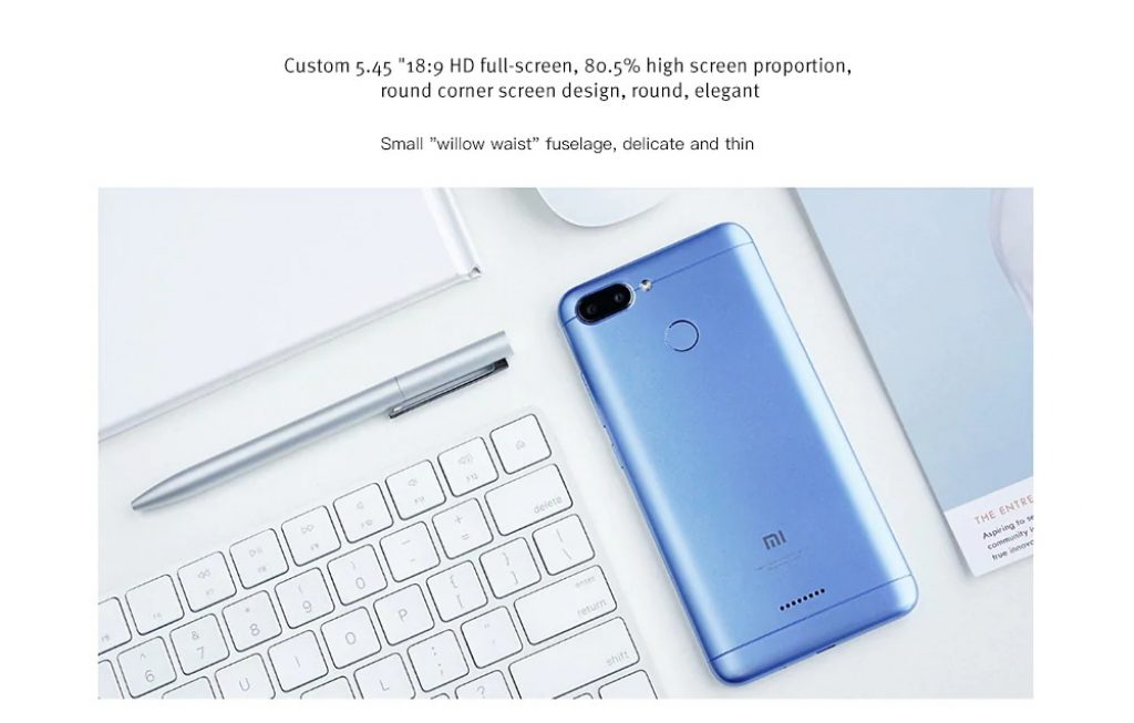 Xiaomi Redmi 6 4G Smartphone Global Version - BLUE, coupon, GearBest