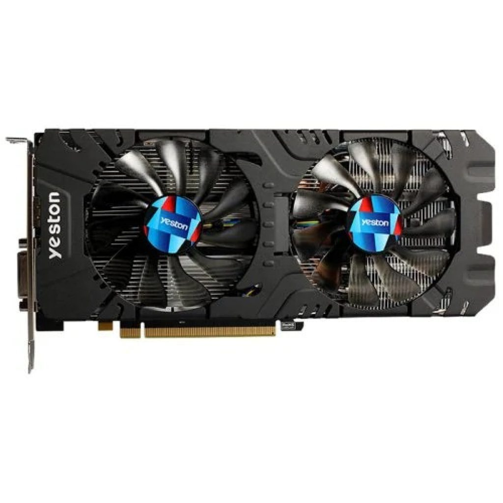 yeston RX570 4G 1244MHz Video VGA Graphics Card - BLACK, coupon, GearBest