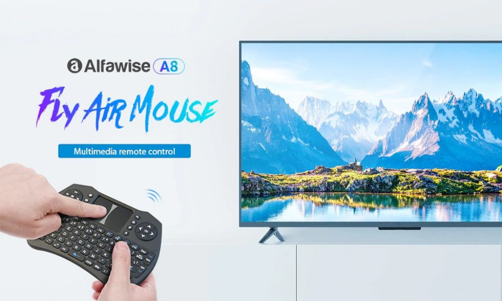 coupon, gearbest, Alfawise A8 Wireless Keyboard Fly Air Mouse