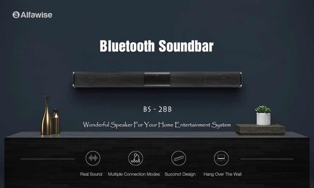 coupon, gearbest, Alfawise BS - 28B Portable Wireless Bluetooth Soundbar