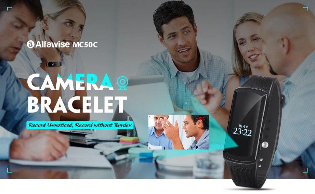 coupon, gearbest, Alfawise MC50C 1080P Camera Bracelet