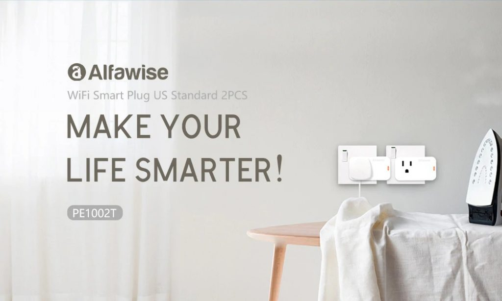 coupon, gearbest, Alfawise Smart Plug 2PCS US Standard Works with Alexa Google Home