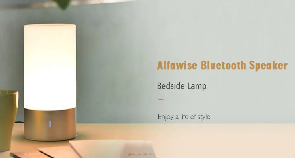 coupon, gearbest, Alfawise WL32 Dimmable RGBW Bluetooth Speaker Bedside Lamp