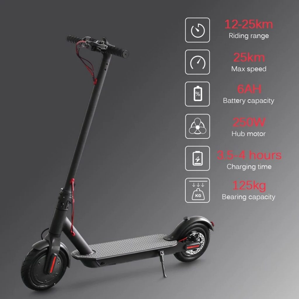 kupon, tomtop, E4 8.5 Inch Foldable Electric Scooter