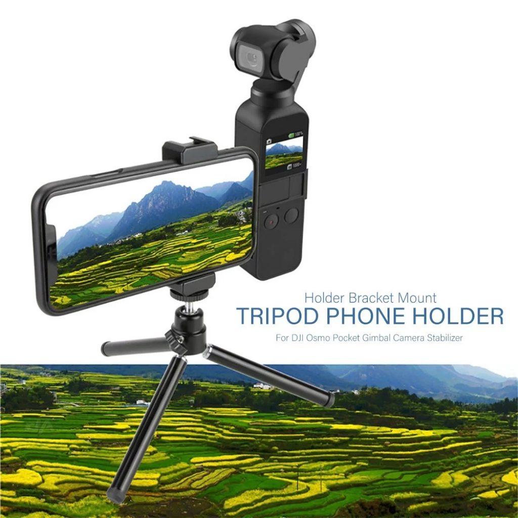 coupon, tomtop,Holder Bracket Mount Tripod Phone Holder for Camera Stabilizer