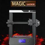 kupón, prevodovka, JGAURORA 3D Tlačiareň Magic DIY 3D Printer Kit - čierna EU Plug