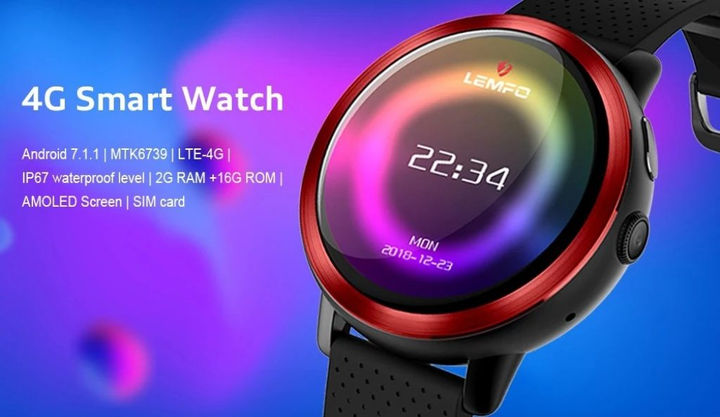 coupon, tomtop, LEMFO LEM8 LTE 4G Smart Watch Phone