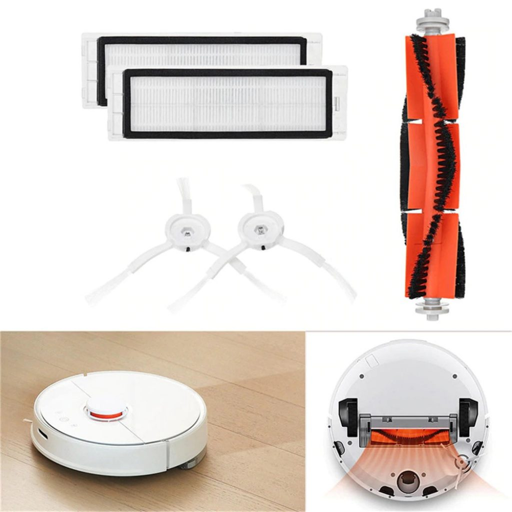 coupon, gearbest, Main Brush Filters Side Brushes Accessories for XIAOMI MI Robot Vacuum