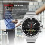 coupon, tomtop, NORTH EDGE Men Sports Digital Analog Watch Diving Watch