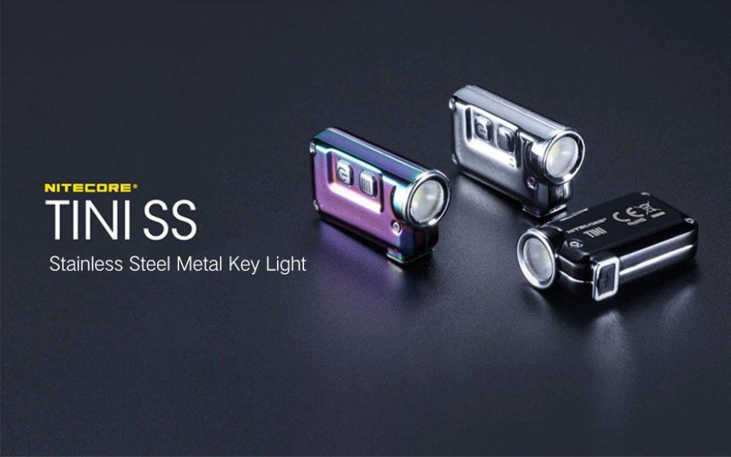 coupon, gearbest, Nitecore TINI SS Stainless Steel Metal Key Light