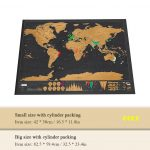 coupon, tomtop, Scratch World Map Travel Edition