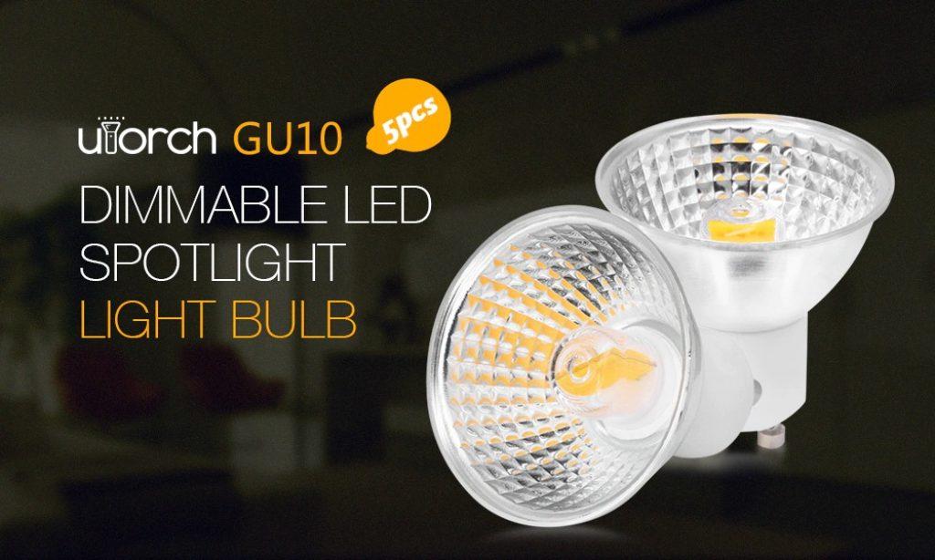 coupon, gearbest, Utorch GU10 Dimmable LED Spotlight Light Bulb