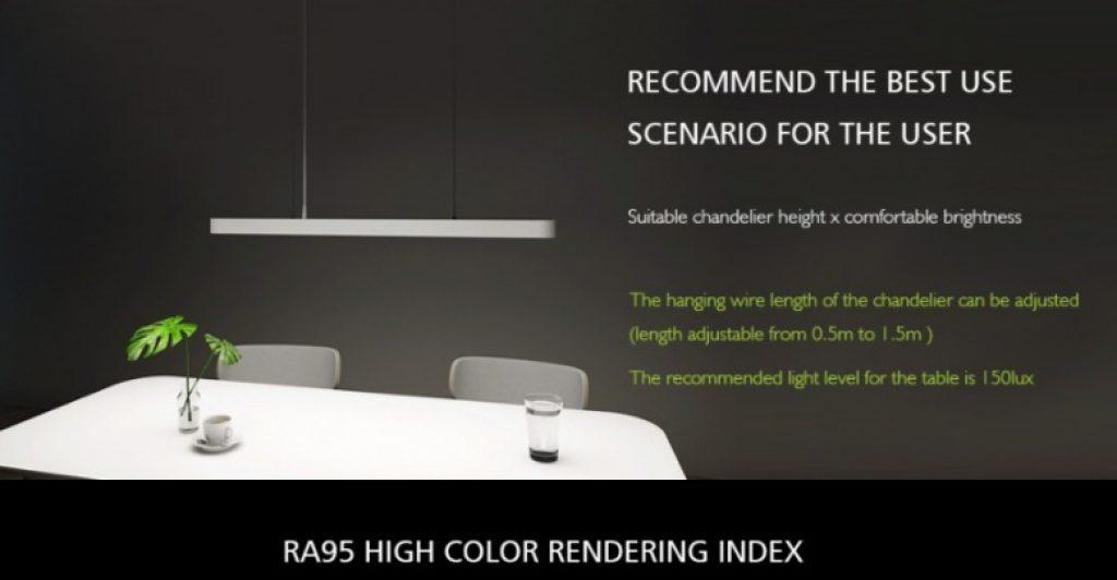 κουπόνι, banggood, Xiaomi Yeelight LED έξυπνο μετεωρίτη φως κρεμαστό κόσμημα μενταγιόν για δείπνο δωμάτιο δείπνο