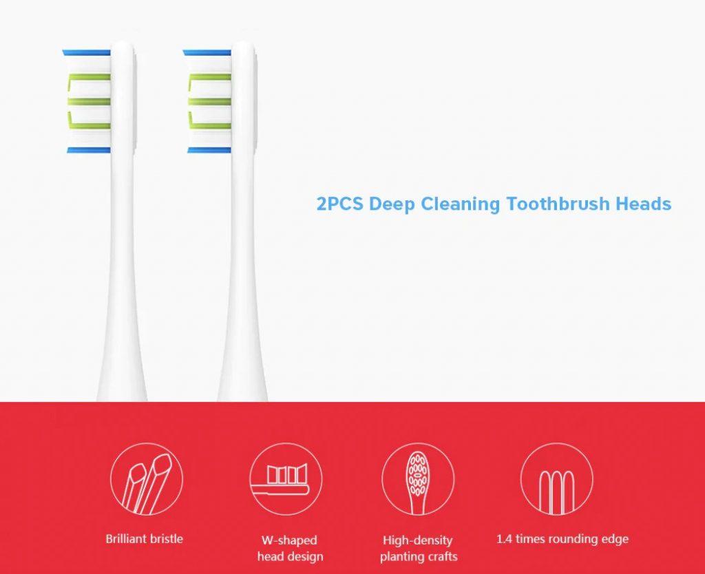phiếu giảm giá, gearbest, 2PCS Oclean Proclean SE One Bàn chải thay thế cho bàn chải đánh răng điện Sonic