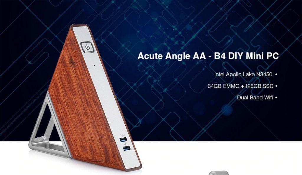 kupón, prevodovka, akútny uhol AA - B4 DIY Mini PC - Multi-A 8GB RAM + 64GB EMMC EU Plug