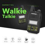 coupon, gearbest, BAOFENG T1 Mini Walkie Talkie