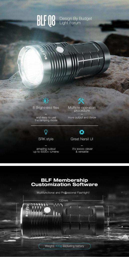 coupon, banggood, BLF Q8 4x XP-L 5000LM Professional Multiple Operation Procedure Super Bright LED Flashlight