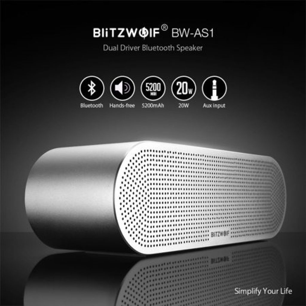 coupon, banggood, BlitzWolf® BW-AS1 Wireless Bluetooth Speaker 20W Double Driver 5200mAh Hands-free Aux-in Speaker