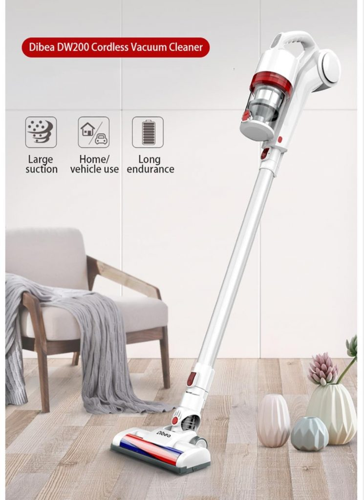 coupon, banggood, Dibea DW200 Cordless Vacuum Cleaner 10KPa Strong Suction Dust Collector With Wall Hanging Rack